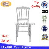 wholesale banquet wedding knocked-down wood plastic resin clear napoleon chair transparent