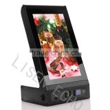 Desktop 7inch video player with power bank 20000mah for restaurant, coffee house and bars
