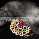 charm keyring fox tail key chains real fox tail fur pendant fur bag ornaments