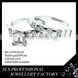 SLS BRANDS couple rings for romantic Valentines' day gift forever love engagement ring silver