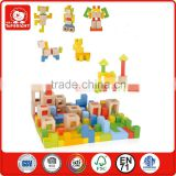 EN71 Standard Customized Natural kids blocks baby block toy wooden blocks Top Bright in Wenzhou