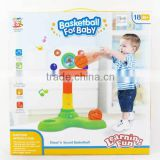 Music plastic electronic basketball stand with light for baby, baby grow toys for Wholesale for children, EB033196