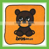 Top Quality Products Bros Bros Bear Cotton Absorbent Square Orange Terry Towel For Children