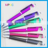 Multifunction 3 in 1 Plastic Ballpoint Pen Screen Touch Pen with Phone Stand