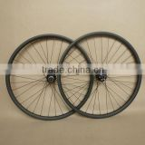 29er carbon mountain wheelset 20mm depth 30mm width rims with Novatec D711/712 disc brake hubs 32H-32H 3K glossy
