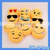 Hogift 13 Styles Soft Emoji Smiley Pollow Yellow Round Cushion Pillow Christmas Present Pillow