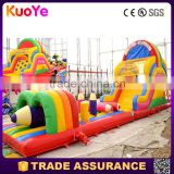 adult inflatable obstacle course trampoline obstacle amusement castillos hinchables pvc obstaculo