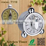 Made in China kitchen mechanical stainless steel alarm clock timer