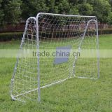 Metal frame football goal for sale with shooting target