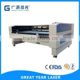 Factory price high precision multi heads laser cutter for cloth accessory