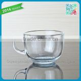 newest style glass tea set transparent glass tea set thin bottom glass tea set with handle