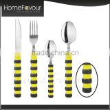 Trade Assured Supplier France Design Personalized Stainless Steel Silver And Gold Cutlery Set