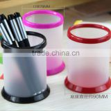 PVC colorful plastic pen holder can print customized logo
