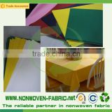Colors non woven fabric for table cloth, nonwoven table cover                                                                                                         Supplier's Choice