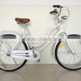 Pure white bike steel vintage bike single speed bicycle women city bicycle manufacturer