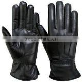 Winter Dress Gloves Soft Thermal Lined Ladies Dressing Real Leather Glove Black/best quality by taidoc