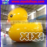 Popular giant yellow inflatable duck floating on water, advertising inflatable duck on water