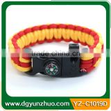 Wholesale Survival Paracord Bracelet With Fire Starter Whistle Buckles, survival paracord bracelets
