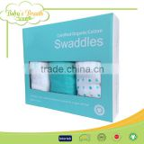MS-21 Swaddle Blanket Softextile 100% Organic Cotton Printed Baby Muslin Swaddle Blankets, Gauze Swaddling Blankets