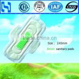 Disposable Cotton Lady Anion Sanitary Napkins with wings
