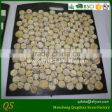 natural granite random round stone mosaic tile