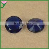 10mm round brilliant cut loose decorative deep blue sapphire glass gemstones for dresses