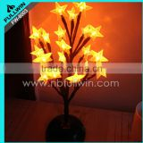 led five-pointed star blossom lighted willow tree artificial flowers with led lights                                                                         Quality Choice