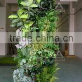 Cheap Long Lasting Artificial Plastic Plants Wall Garden with Easy Installation for Wall Covering