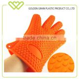 heat resistant bbq Silicone plastic oven glove