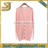 Wholesale mongolian cashmere plain ladies fashion winter cardigan ladies cardigan sweater