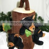 Woodland Animal Tree House Finger Puppet Set/ Tree Finger Puppet House