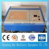 3020 50W mini CO2 desktop laser engraving cutting machine for wood , acrylic , rubber stamp , cloth , felt