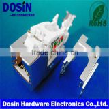 factory supplier RJ45 Connector for pcb mount, keystone jacks, modular connector with led and emi                                                                         Quality Choice