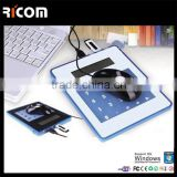Multifunction 3 port usb hub mouse pad with calculator,light up usb hub mouse pad--MP217