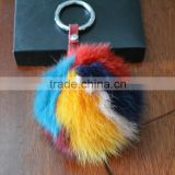 Animal Fur Ball Tag Key Buckle Holder keychain
