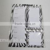 Note pad with backer board, 3 note pad set, well-designed note pad