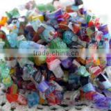 multicolored glass beads in varying sizes for jewelry makers, art and crafts, kids crafts, interior designers