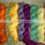 solid colored banana silk yarns for yarn stores, knitters , art and crafts,