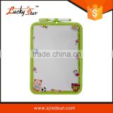 2015 Double-side Plastic kids drawing board color framed with magnets and marker