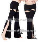 Wholesale cheap sexy black belly dance pants (QC9001)