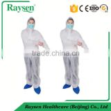 Dustproof Nonwoven Disposable Protective Coverall with Hood