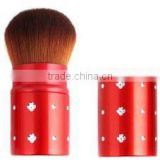 glittering base red color nylon hair make up kabuki brush