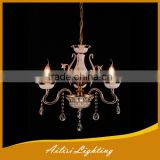 Vintage Chandelier Lamp, Hot Selling White Ceramic 3 Lights Crystal Chandelier with E14 Socket