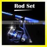 2.7M/3.0M/3.6M/4.5M/5.4M Blue Color Set Spinning Fishing Rod and Fishing Reel 6 Ball Bearing Combo