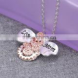 Hot Mother's Day Gift Necklaces Engraved '' Love Mom '' Words Steampunk Necklaces Animal Bees Pendant Necklaces Jewelry