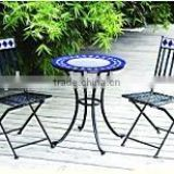 metal folded bistro table and chair