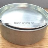 wholesale high quality silver round tin lid for candle