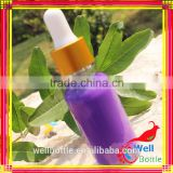 purple glass dropper bottle with rubber dropper sealing type withgolden lid silver lid for essential oil bottle