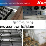 NEW coil type ice block maker assembled in container for instant ice plant set up