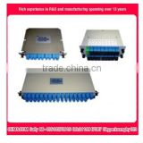 Insertion type 1x8 plc fiber optic splitter FTTH cassette-type 1x16 gpon splitter